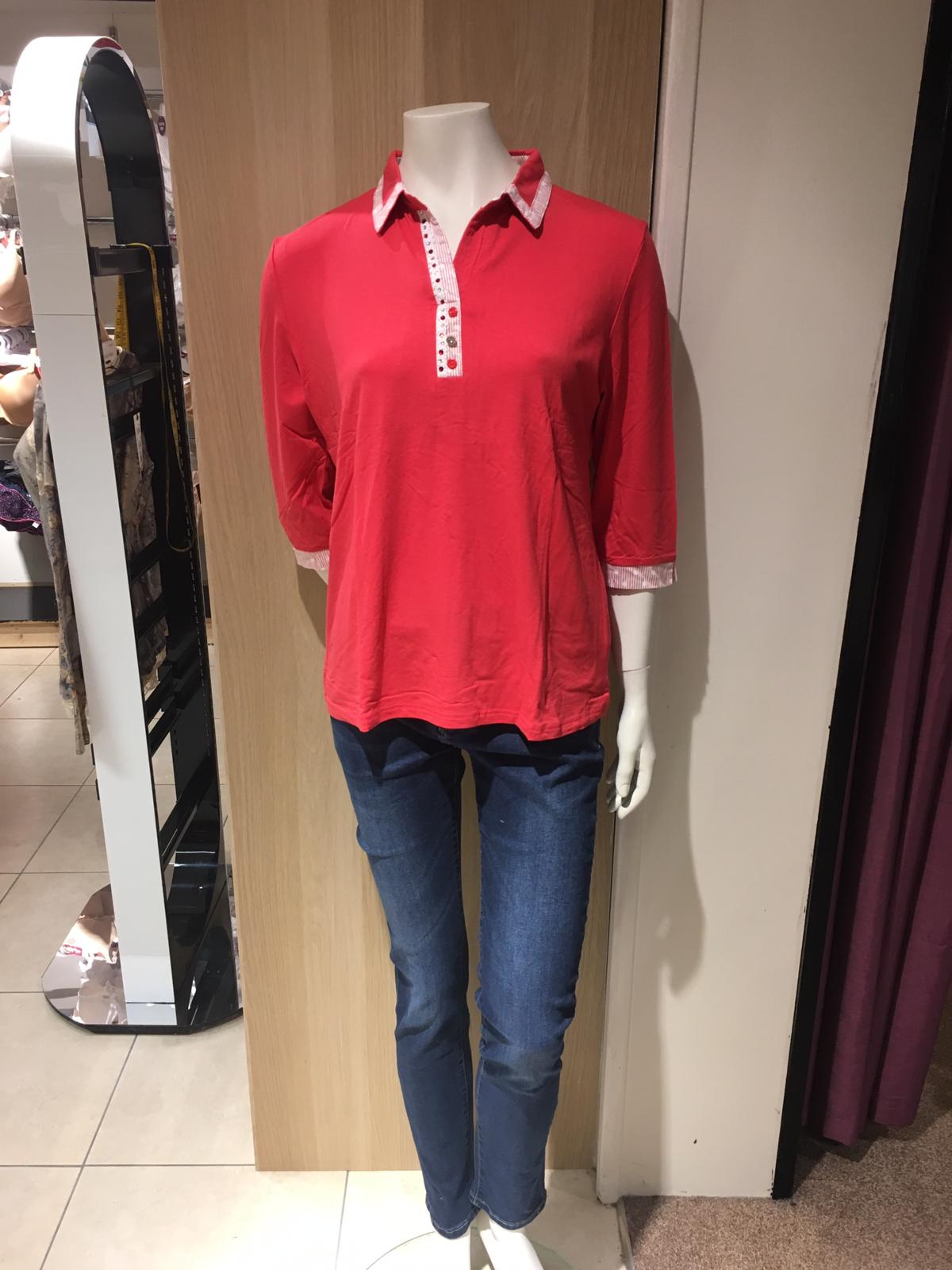 ladies collared top ss19