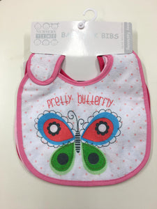 Girls 3 Pack Baby Bibs 724