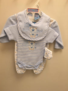 Teeny Tiny  Baby  Boy  Premature  4  Piece  Set 40JTC706