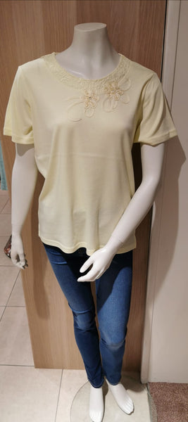 Ladies T Shirt with Embroidered Neck by Fay louise GL8724