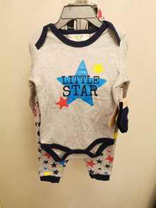 Baby Boy's 4 Pc Set Little Star with Runners