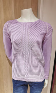 Ladies Ribbed Pattern Knitted Jumper