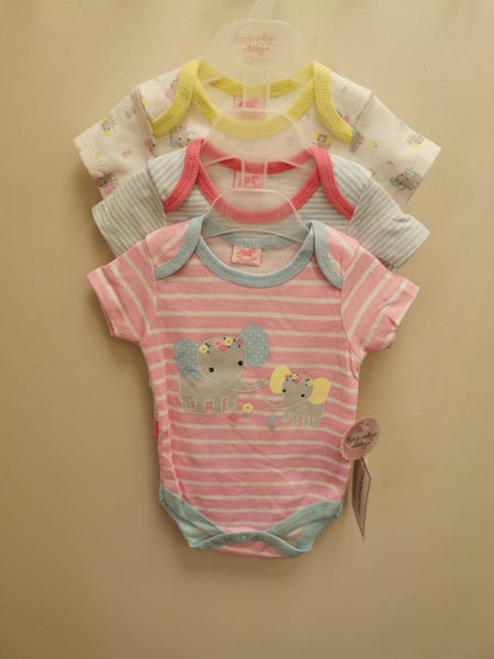 Lily & Jack 3Pack Girls Bodysuits Elephant R18747