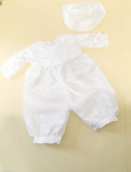Bebo Boys christening romper outfit with  cross PB209016