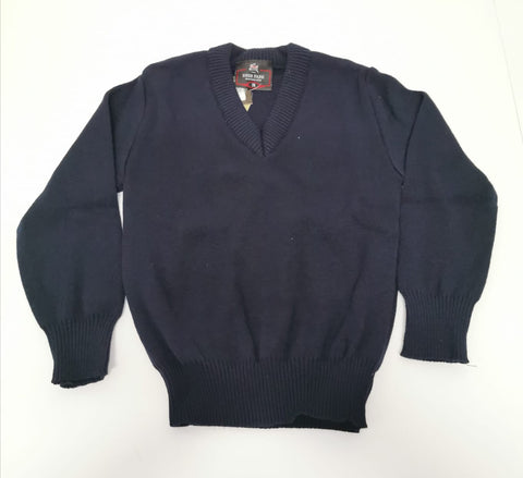 navy v neck primary  school jumper