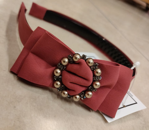 Hairband with  Bow & pearls