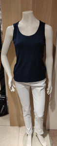 Kira  Ladies  Plain  Vest Top Navy