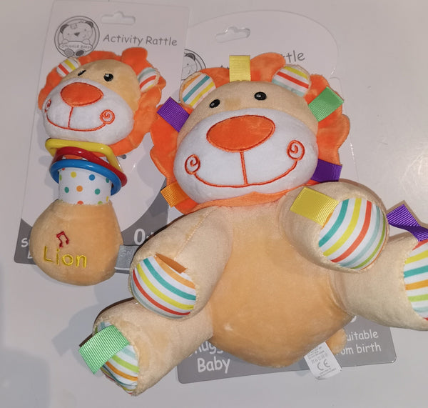 Baby Musical Squeeze And Rattle Toy –Lion