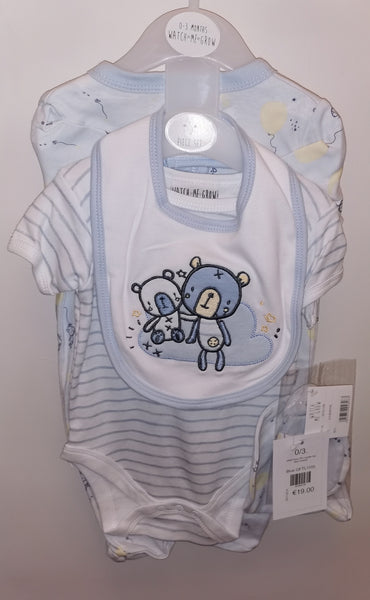 Watch Me Grow Bear Friends Baby Boys 5Pc Layette Set