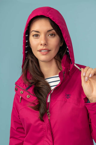 Iona Ladies Coat - Raspberry