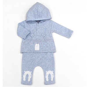 WATCH ME GROW BABY BOYS BEAR HOODED TOP & PANT SET L1053