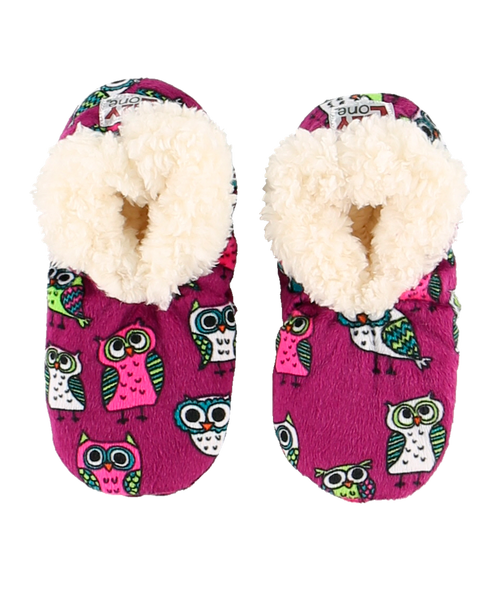 kids night owl fuzzy feet19