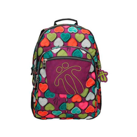 TOTTO SCHOOL BACKPACK – CRAYOLA HEARTS 4MQ