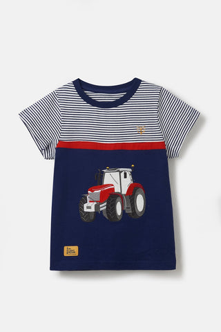 Boys Mason Tee Shirt - Pillar Box Tractor