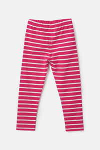 Mollie  Girls Leggings - Fuchsia Rose Stripe