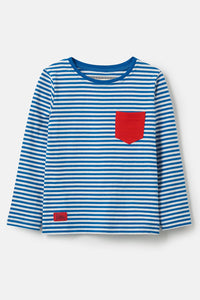 Lighthouse Boys Oliver Top - Ocean Blue Stripe