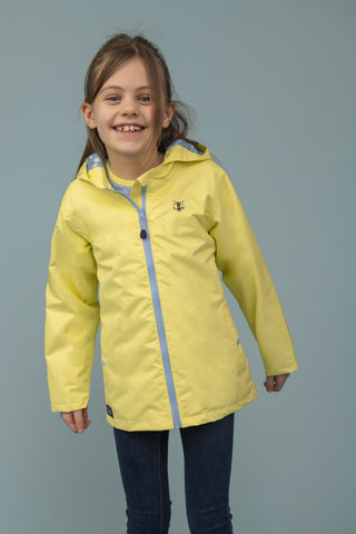 Girls Olivia Jacket - Lemon by Little Lighthouse