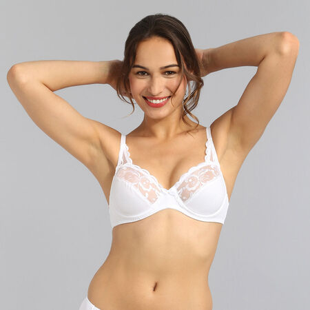 Playtex Underwired bra in White Essential Elegance Embroidery P0A6A