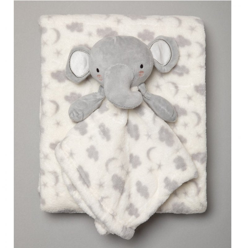 SNUGGLE TOTS BABY UNISEX ELEPHANT COMFORTER & BLANKET R18662: