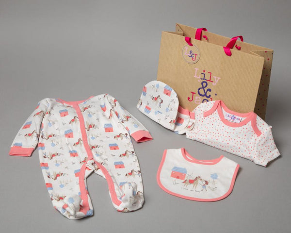 "Rock a bye boutique ""Pony"" 5 Piece Set with Gift bag RBBR18626"