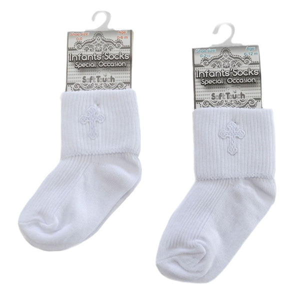 Soft Touch Boys Christening Socks  S12W
