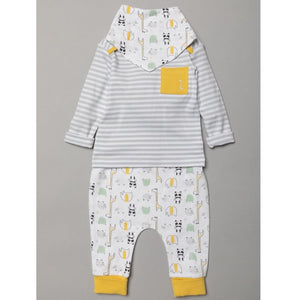 Home Grown BABY UNISEX ORGANIC COTTON TOP, JOG PANT & BIB OUTFIT