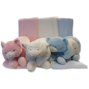Snuggle Baby Cream Sheep Cushion Toy and Blanket Gift Set SB25-0914C
