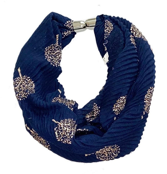 Fiore Shimmer Tree Of Life Magnetic Scarf