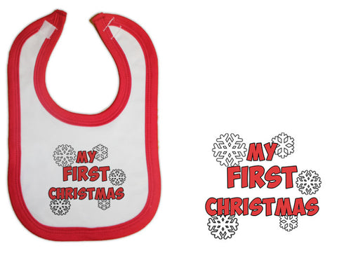 infant  christmas  bib