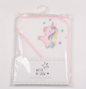 Baby Girls Hooded Towel Unicorn Design