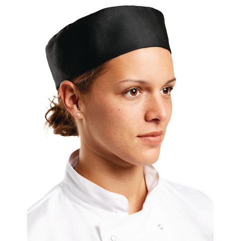 A206 Whites Chef Skull Cap Black
