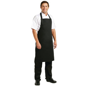 A279 Whites Bib Apron Polycotton Black