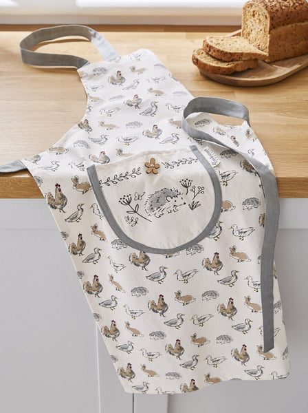 Cooksmart Country Animals Apron 100% Cotton