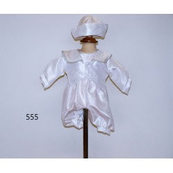 Boys   christening romper  2 piece outfit style TL555