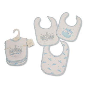 BABY PRINCE VELCRO FASTENING 3 PACK BIBS BW-104-746