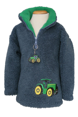 Green Tractor fleece Style 1344 with  tractor keyring