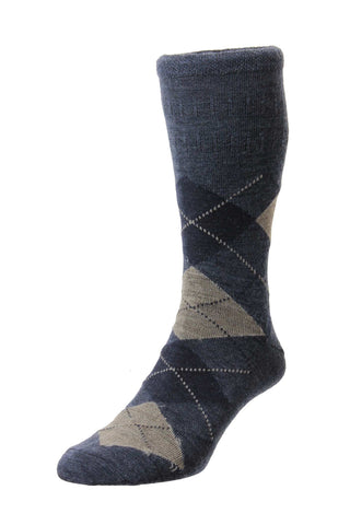 Argyle - Men's Wool Softop® Socks - HJ88