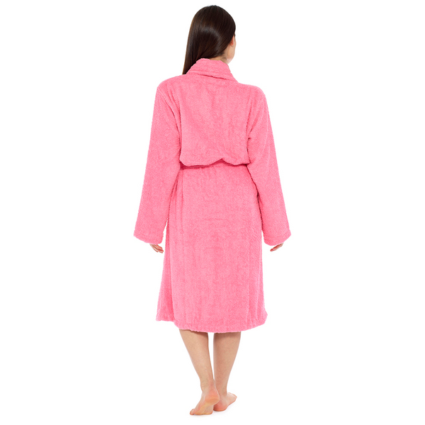 Tom Franks Ladies COTTON TOWELLING DRESS Dressing Gown with Pockets, LN566