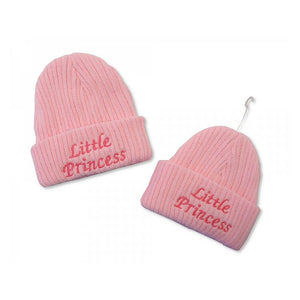 baby  girl  pink  knitted  hat