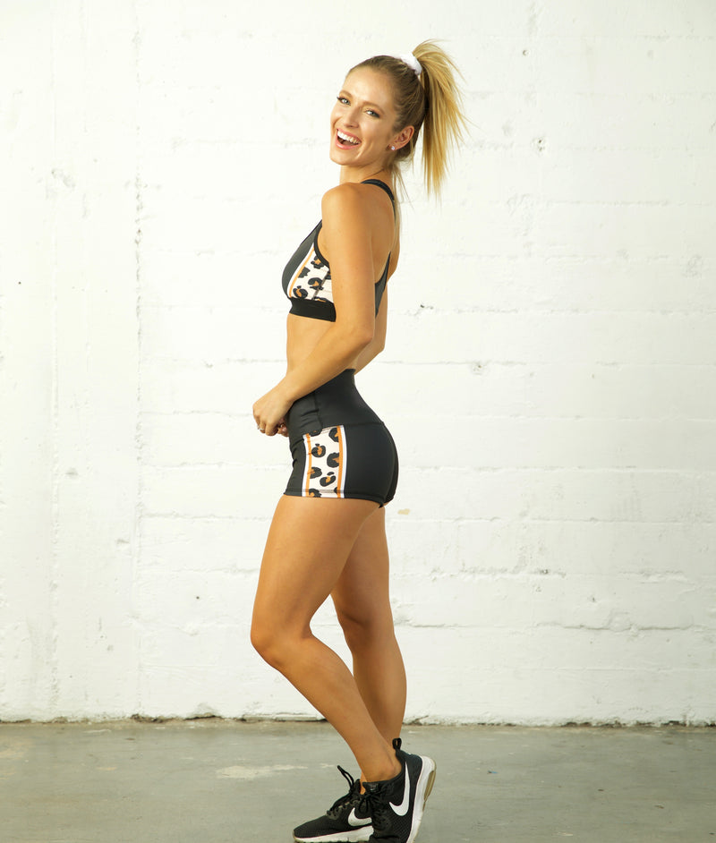 The Leopard Collection Yoga Shorts