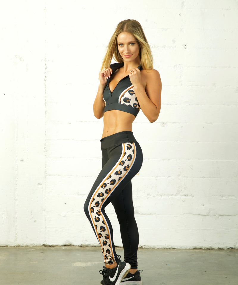 The Leopard Collection High Neck Sports Bra