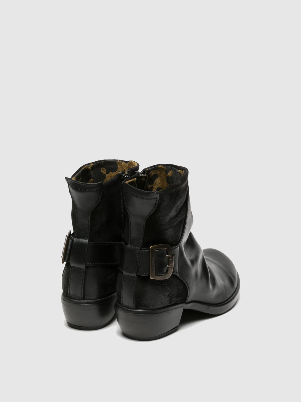 Buckle Ankle Boots MEL BLACK