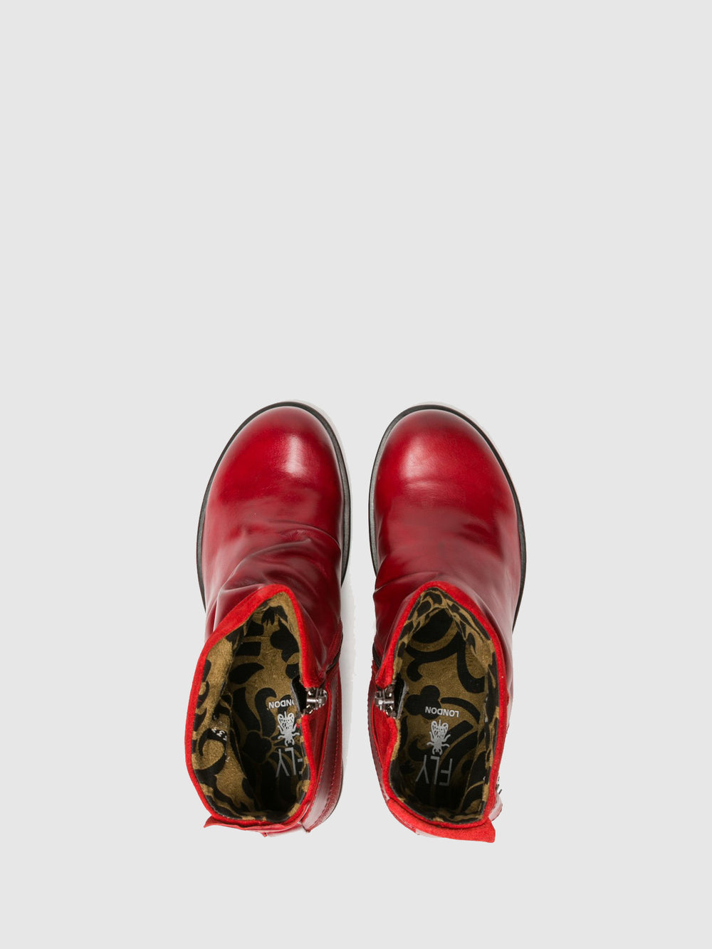 Buckle Ankle Boots MEL RED