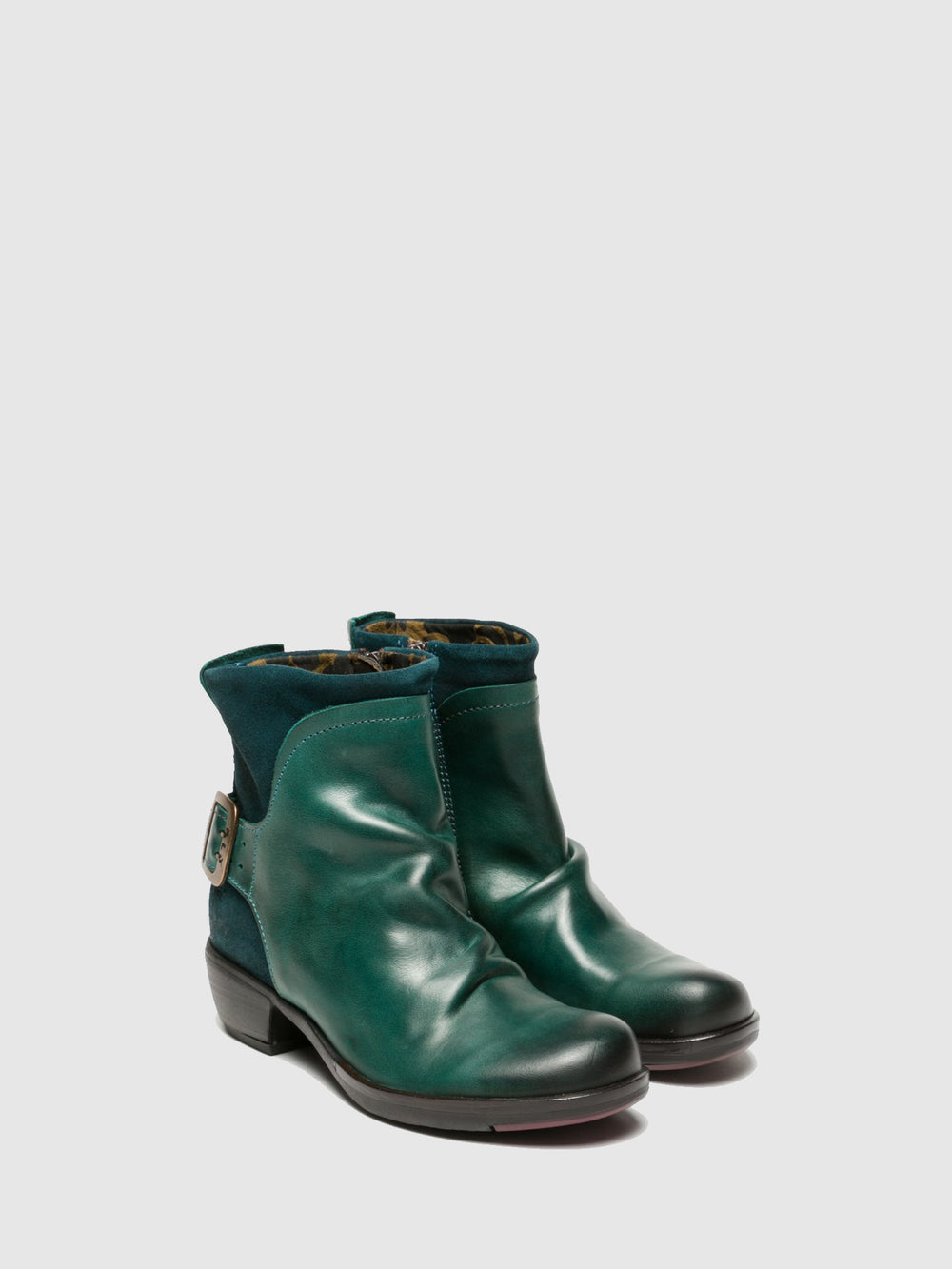 Buckle Ankle Boots MEL PETROL