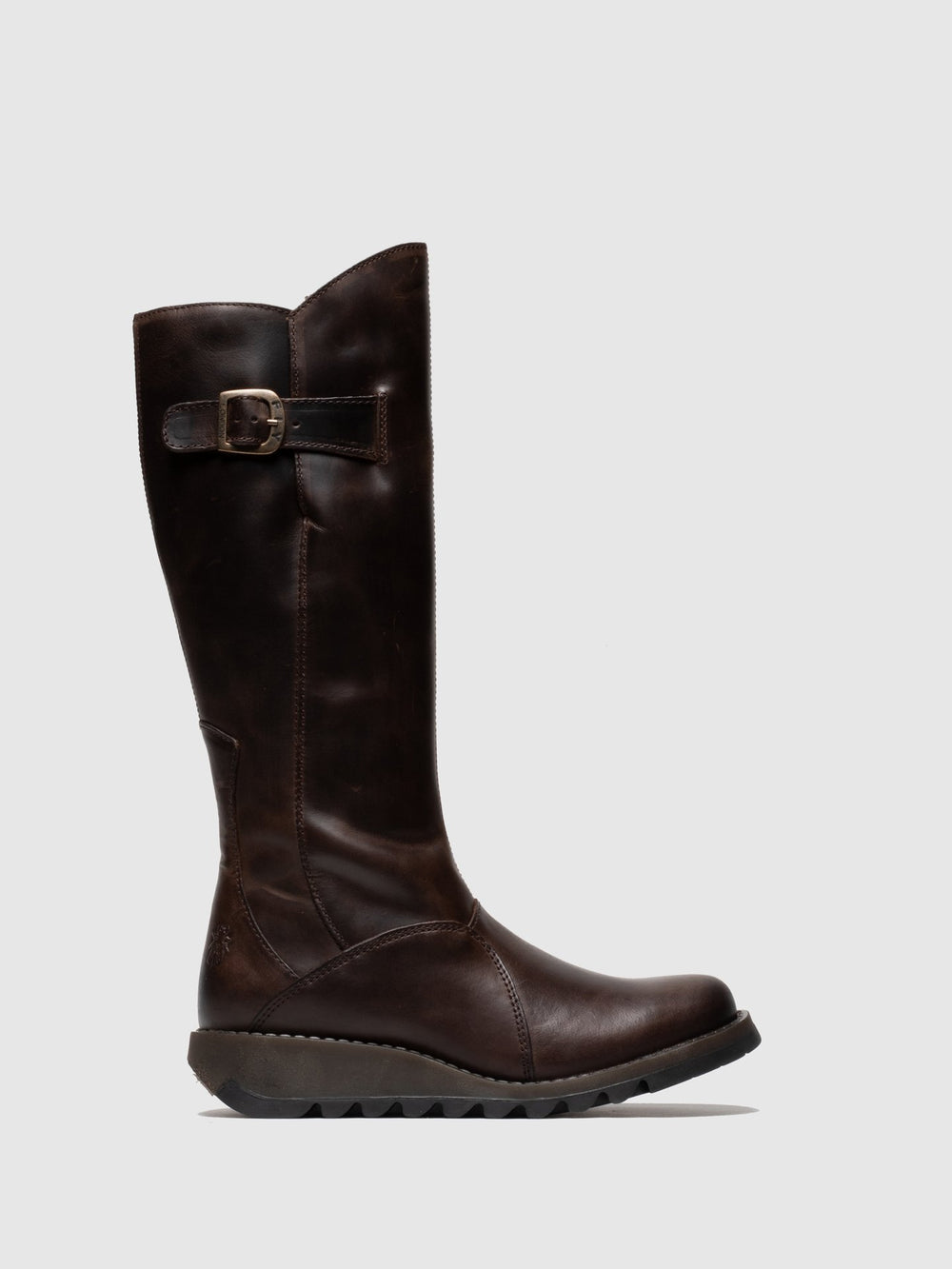 Zip Up Boots MOL 2 DK BROWN