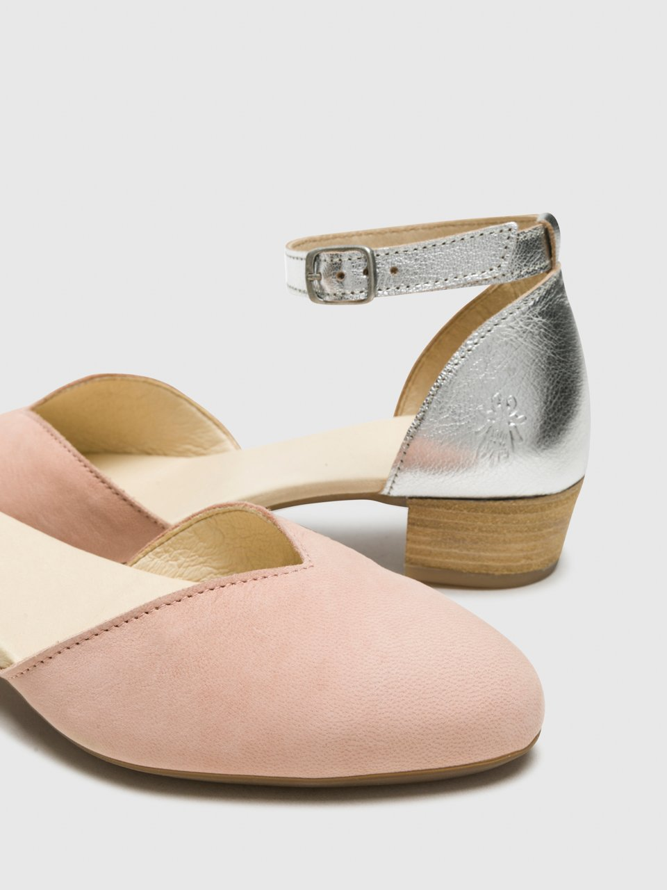 Ankle Strap Sandals LOGI459FLY NUDE PINK/SILVER