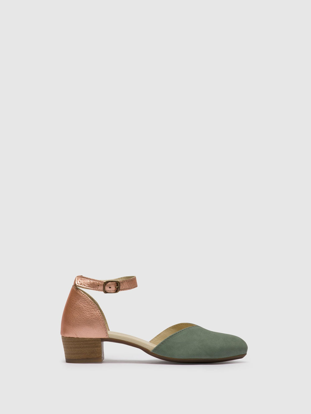 Ankle Strap Sandals LOGI459FLY JADE GREEN/BLUSH GOLD