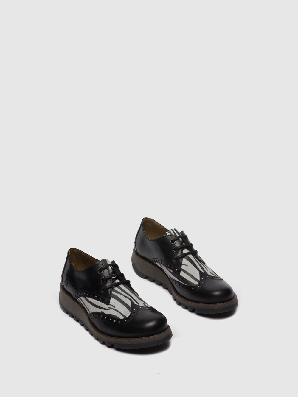 Oxford Shoes SUME524FLY RUG/ZEBRA BLACK/OFFWHITE