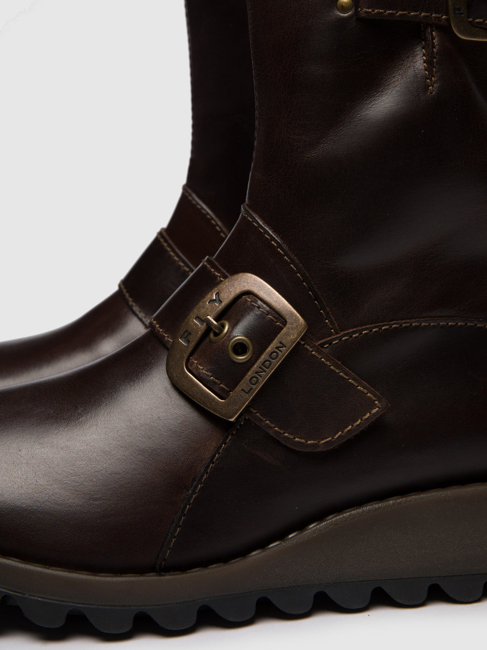 Buckle Ankle Boots SINO525FLY DK.BROWN