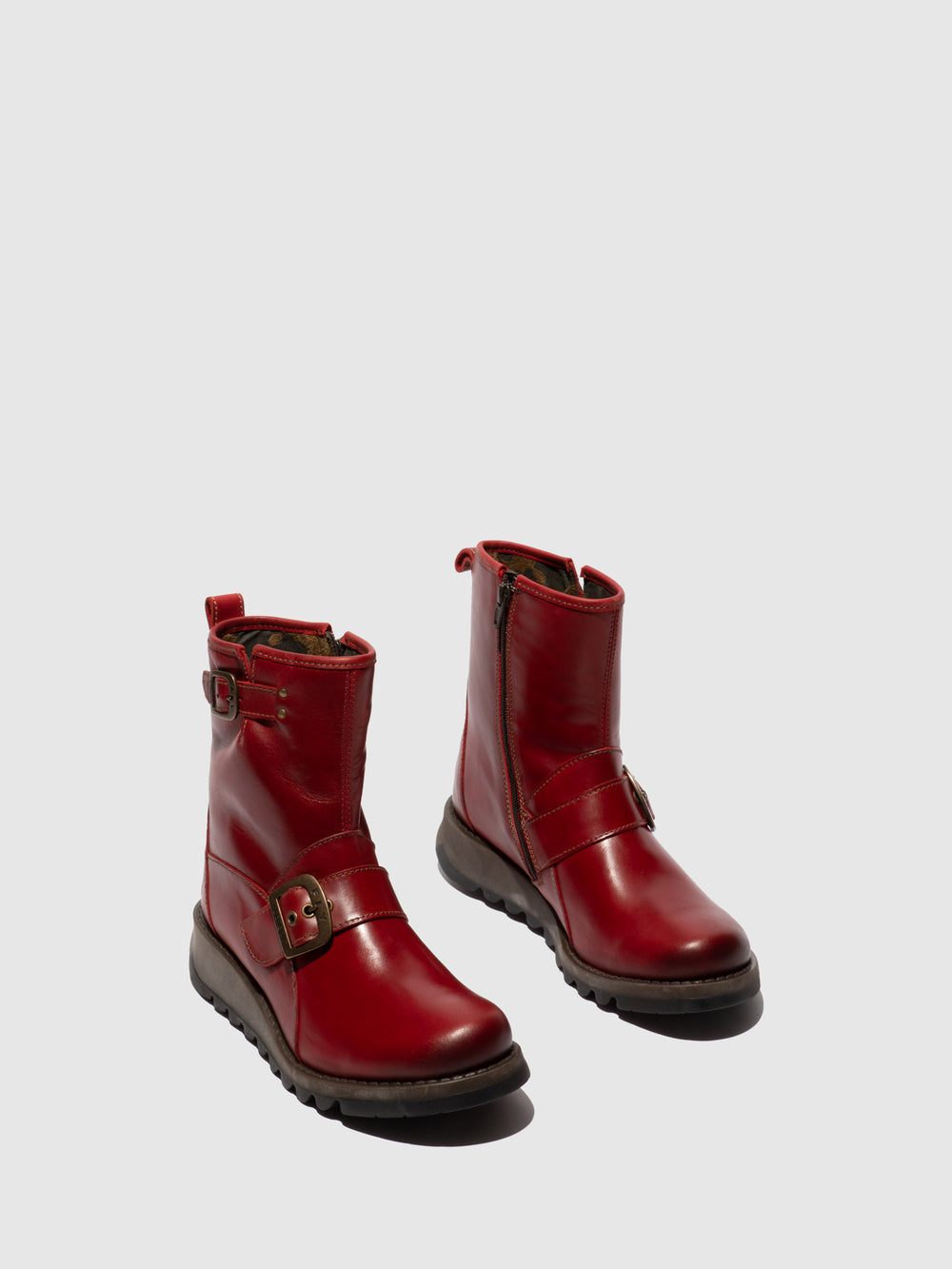Buckle Ankle Boots SINO525FLY RED